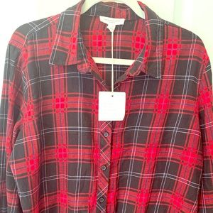 Beach Lunch Lounge Holiday Plaid Top